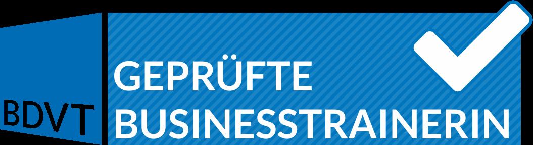 Logo BDVT geprüfte Business-Trainerin