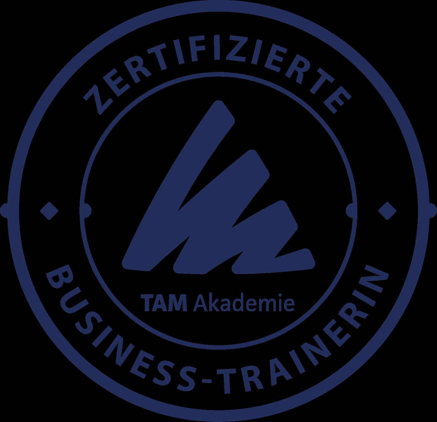 TAM zertifizierte Business-Trainerin